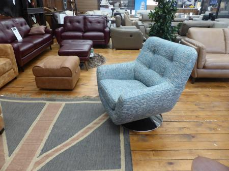 Boss swivel chair in lovely fabric by Gala