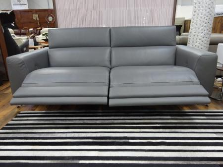 Natuzzi Pensiero Leather Power 3 seater & static 2 seater