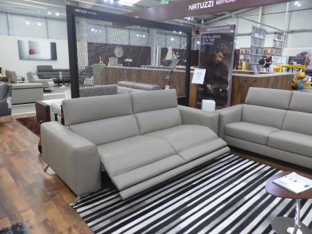 Natuzzi Pensiero Leather 3 seater & 2 seater power recliners