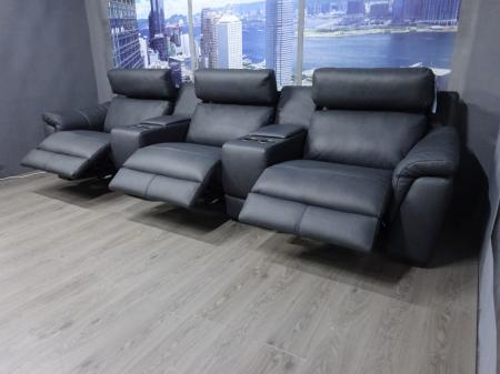 Natuzzi Arezzo Leather 3 Seat power reclining cinema sofa