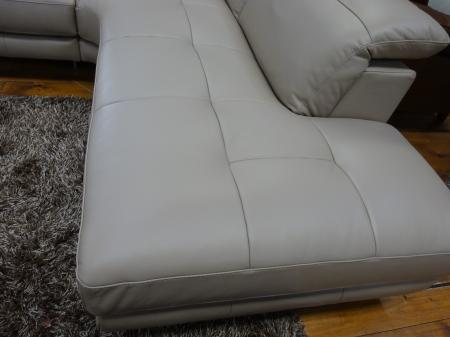 Natuzzi Adamo B878 Italian Leather R/H Chaise Corner Sofa