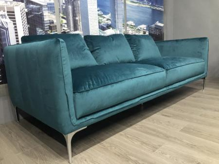 Volante Marina Beautiful teal soft fabric 3 & 2 seater