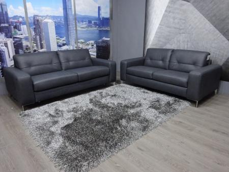 Natuzzi HighPoint Leather 3 seater sofabed & matching 2 seater sofa