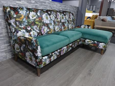 Designer Bright Floral Suzani Charm Reproduction Large 3 Seater Sofa