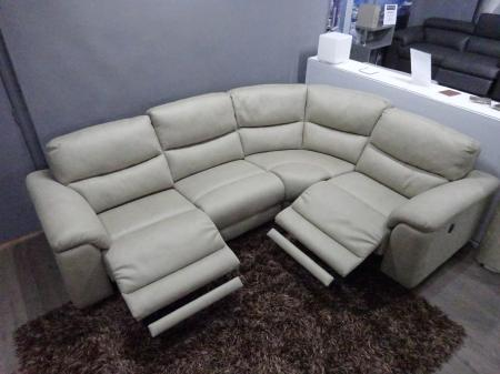 La-z-boy Power reclining corner sofa in lovely Alcantara fabric