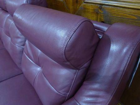 Dallas soft leather 3 seater, 2 seater and chair with recliners