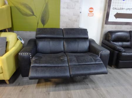 Leighton High Grade Natural leather power reclining 3 seater