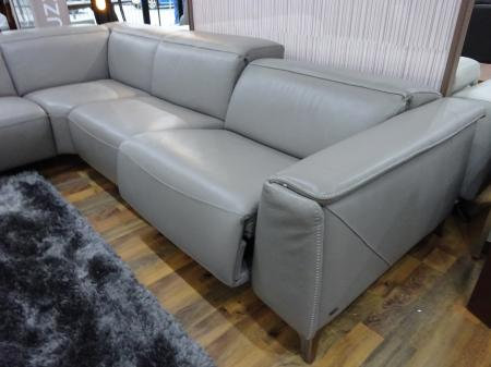 Natuzzi Trionfo Triple Action Power Recliner Corner Sofa