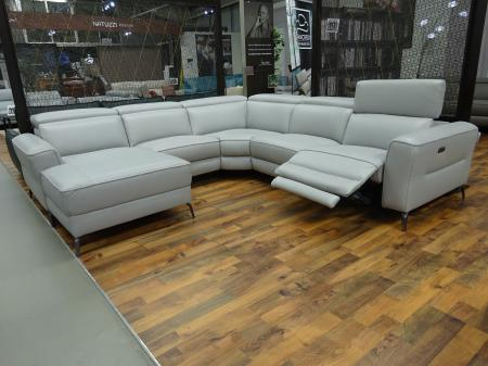 Volante Pescara Power Reclining Chaise Corner Sofa