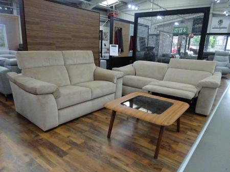 Natuzzi Michelle/sensor power reclining 3 seater & 2 seater sofa