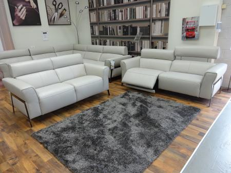 Natuzzi Syracuse power reclining 3 seater with 2 seater static sofa