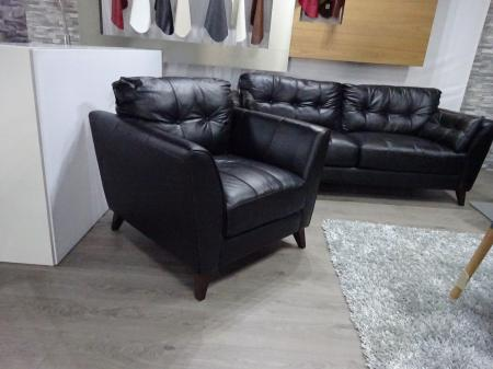 Montreal genuine soft leather 3 seater & 2 chairs