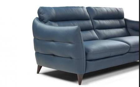 Calia Italia Tahiti soft leather 3 & 2 seater sofa