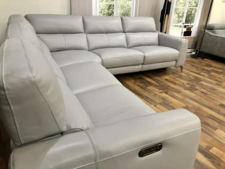 Volante Portafino power reclining arm to arm corner sofa
