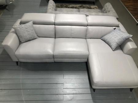 Milano power reclining R/H chaise corner sofa