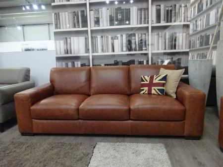 Natuzzi C123 Integro Aniline Natural leather 3 & 2 seater sofa