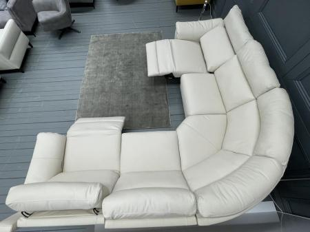 Natuzzi Arrezzo Ivory soft Leather power reclining corner sofa