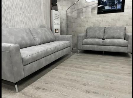 Volante Pisa soft Nubuk fabric 3 & 2 seater sofa