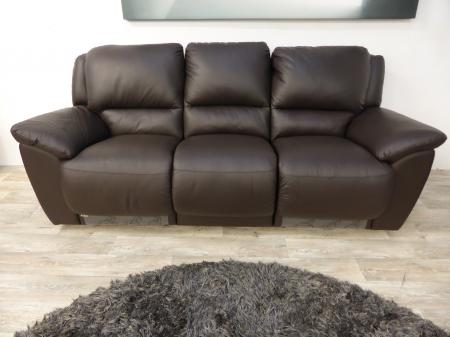 Zolano Genuine Full Leather 3 2 Brown Manual Recliners