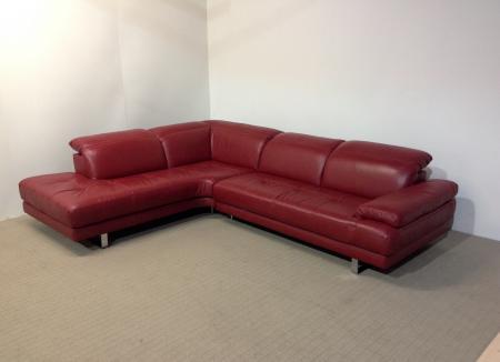 Natuzzi Edition Metropolitan Ruby Red Corner Sofa