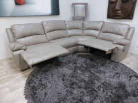 Mizzoni Italia lethex air excellent quality power recliner corner sofa