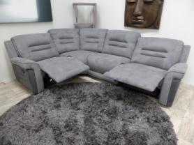 Mizzoni Italia suede excellent quality power recliner corner sofa