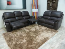 La-z-boy Leather Sophia 3 seater manual & 2 seater static