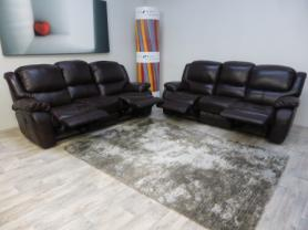 La-Z-Boy Ava Leather 3 & 3 Seater manual Recliner sofas