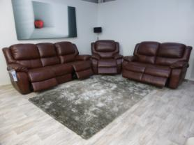 La-Z-Boy Ava Leather 3 Seater, 2 Seater & chair all power recliners