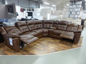 LA-Z-BOY NASHVILLE TOP GRADE COFFEE POWER RECLINING CORNER SOFA
