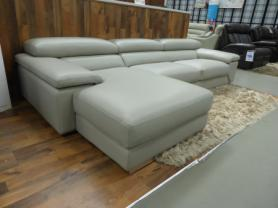 Concept Italia Nirvana grey L/H facing chaise corner in leather