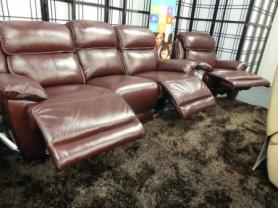 La-z-boy Leather 3 seat power & manual recliner chair