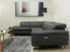 NATUZZI EDITIONS DAYTONA L/H FACING LEATHER POWER RECLINING