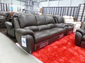 La-Z-Boy Atlanta Leather 3 Seater And chair all power Recliner sofa