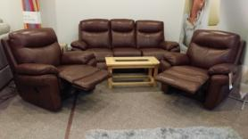 La-Z-Boy Austin 3 Seater Power & 2 Manual Recliner Chairs