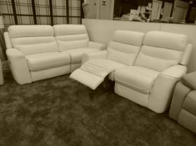 Lazy boy Full Top Grain Leather Power 3 & 2 seater