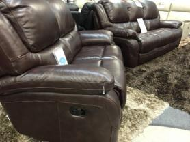 La-Z-Boy Ava Leather 3 & 2 Seater manual Recliner sofas