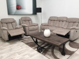 Georgina modern High quality fabric 3 & 2 chairs power recliners