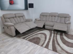 Georgia modern High quality beige 3 & 2 seater power recliners