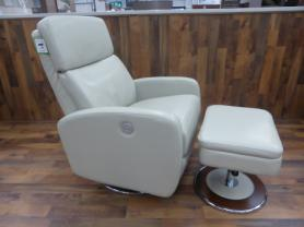 La-z-boy Andrea Ivory Cream Power Recliner Chair And Ottoman