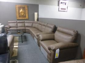Natuzzi Editions Andria leather power reclining corner & chair