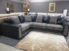 Benevento modern Fabric corner sofa grey