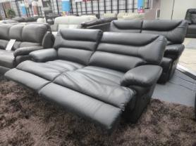 La Z Boy Black Leather Power Reclining 3 & 2 seater