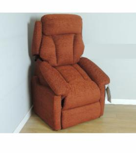 La-Z-Boy Georgia Dual Motor Riser Recliner Logan Rust Fabric