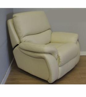 La-Z-Boy California Manual Recliner ivory Leather