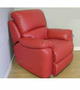 La-Z-Boy Sophia Electric Recliner Red Leather