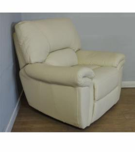 La-Z-Boy Memphis Electric Recliner Ivory Leather