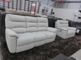 La-z-boy Manhattan 3 & 2 seater power recliners in fabric