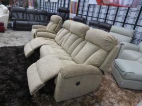 La-z-boy Georgia 3 Seater & chair both power recliners in Alpine latte