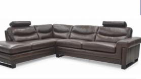 Mizzoni Italia High quality leather corner sofa with headrests
